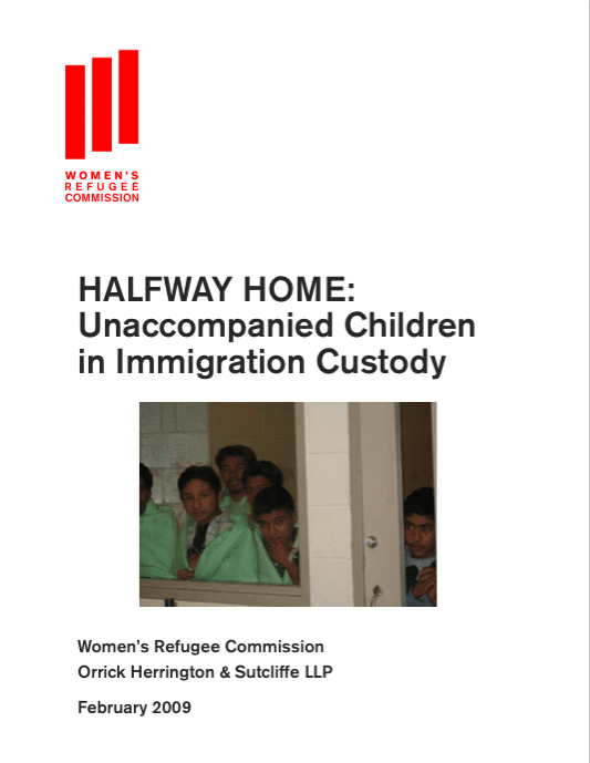 Source: Halfway Home: Unaccompanied Children in Immigration Custody