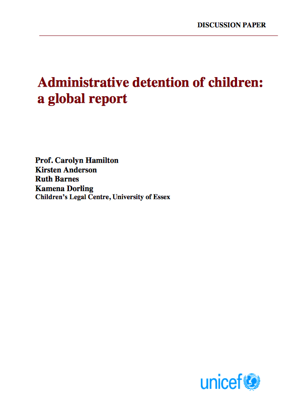 Source: Administrative Detention of Children: a Global Report
