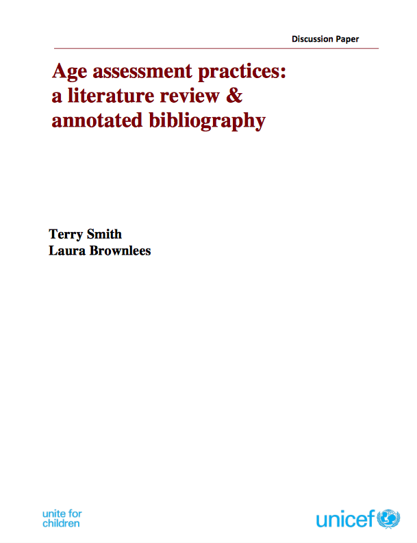Source: Age Assessment Practices: A Literature Review and Annotated Bibliography
