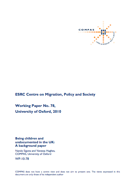 Source:  Being Children and Undocumented in the UK: A Background Paper